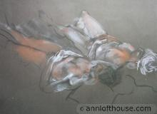 drawing of couple reclining